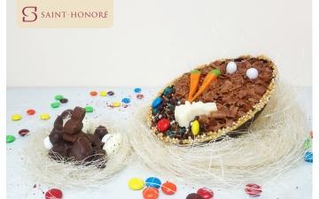 HALF EASTER EGG - MASCARPONE & CRISPY CHOCOLATE