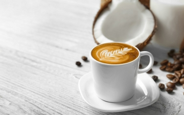 Organic coconut milk capuccino/latte