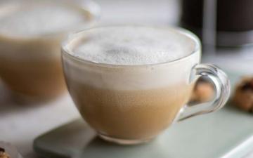 Signature Saint Honore almond milk capuccino/latte